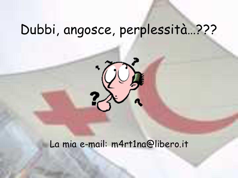 Dubbi, angosce, perplessità…??? La mia e-mail: m4rt1na@libero.it
