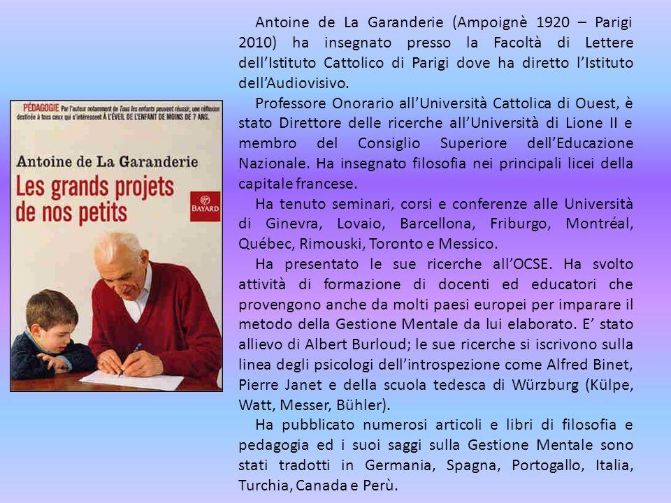 Antoine de La Garanderie (Ampoignè 1920 – Parigi 2010) ha insegnato presso la Facoltà di Lettere dellIstituto Cattolico di Parigi dove ha diretto lIst