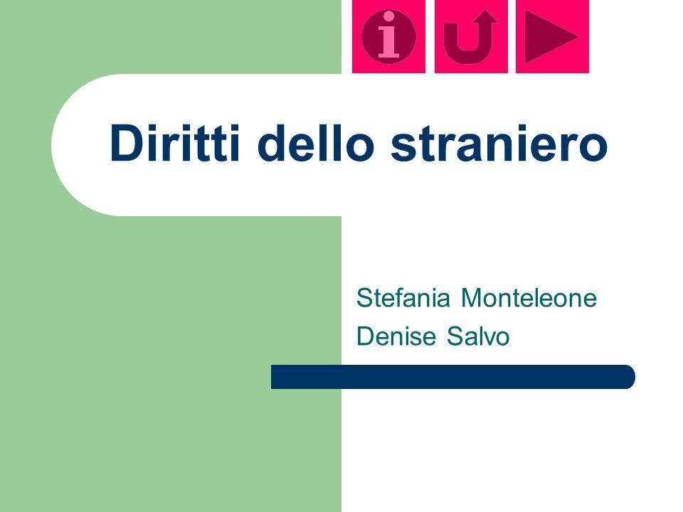 Diritti dello straniero Stefania Monteleone Denise Salvo