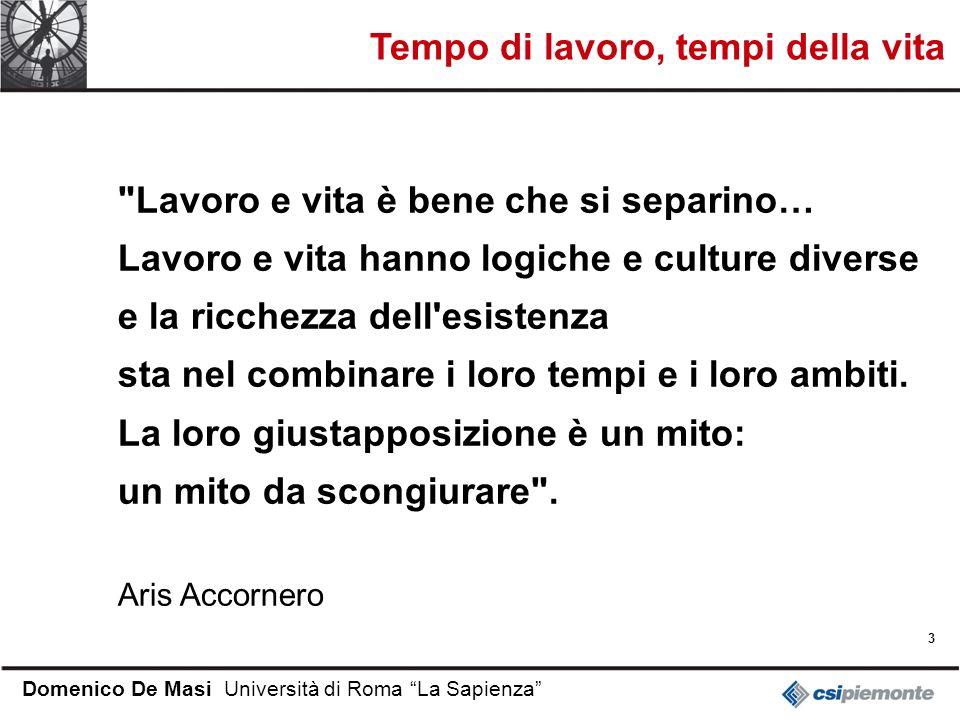 3 Domenico De Masi Università di Roma La Sapienza