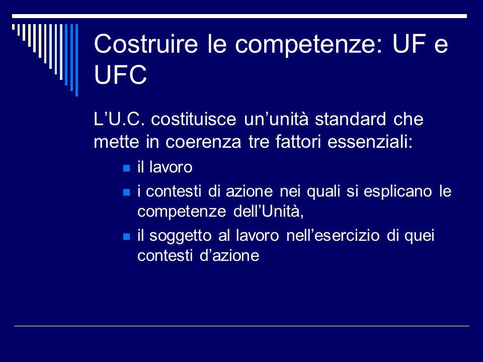 Costruire le competenze: UF e UFC LU.C.