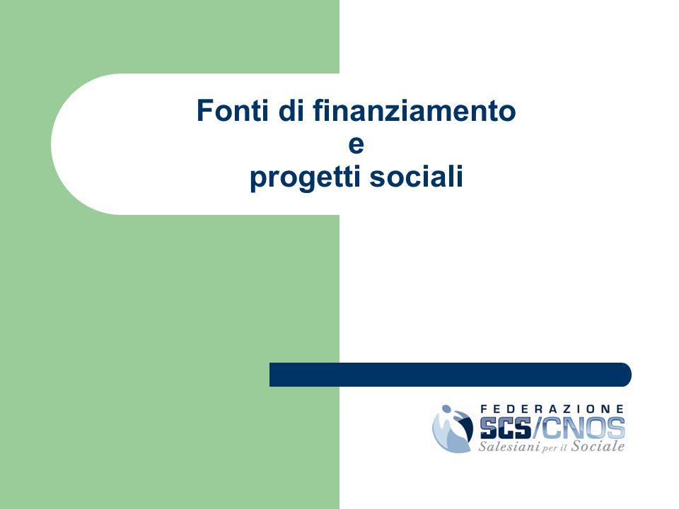 Fonti di finanziamento e progetti sociali