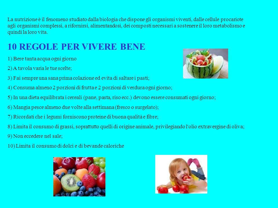 La nutrizione è il fenomeno studiato dalla biologia che dispone gli organismi viventi, dalle cellule procariote agli organismi complessi, a rifornirsi