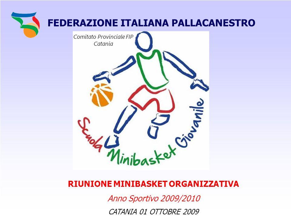 FEDERAZIONE ITALIANA PALLACANESTRO SETTORE GIOVANILE MINIBASKET SCUOLA PRONTI A RICOMINCIARE ??.