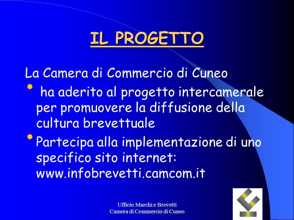 Ufficio Marchi e Brevetti Camera di Commercio di Cuneo IL PROGETTO La Camera di Commercio di Cuneo ha aderito al progetto intercamerale per promuovere