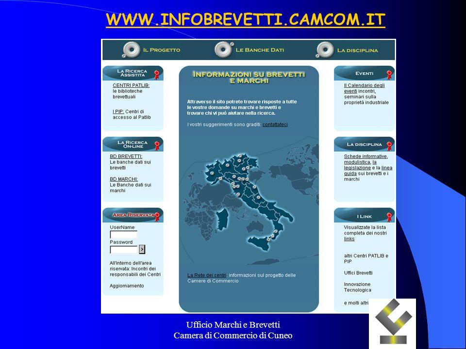 Ufficio Marchi e Brevetti Camera di Commercio di Cuneo WWW.INFOBREVETTI.CAMCOM.IT