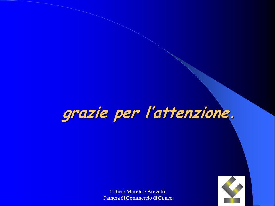 Ufficio Marchi e Brevetti Camera di Commercio di Cuneo grazie per lattenzione.