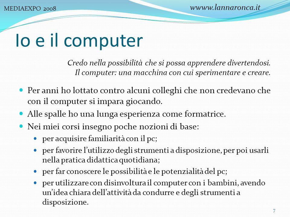 I bambini e il computer I bambini hanno un rapporto speciale con il computer.