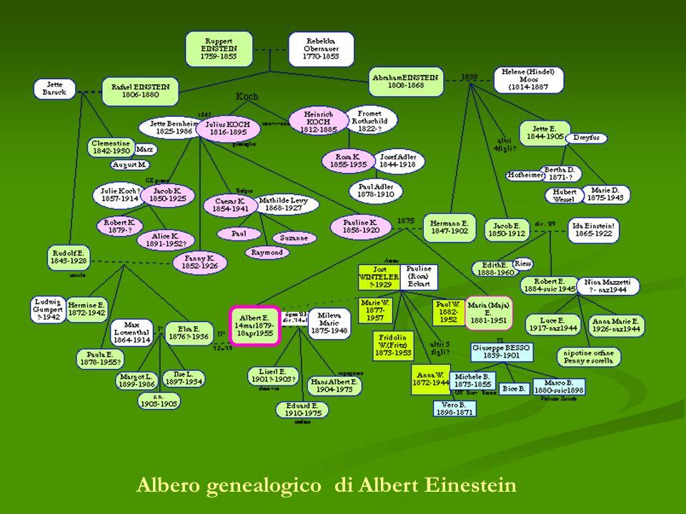 Albero genealogico di Albert Einestein