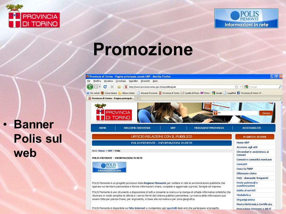 Promozione Banner Polis sul web