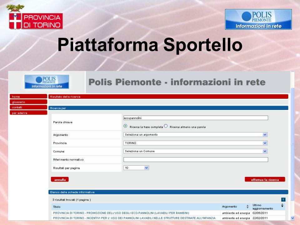 Piattaforma Sportello