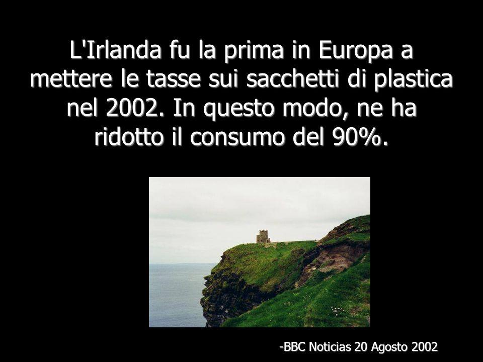 L Irlanda fu la prima in Europa a mettere le tasse sui sacchetti di plastica nel 2002.