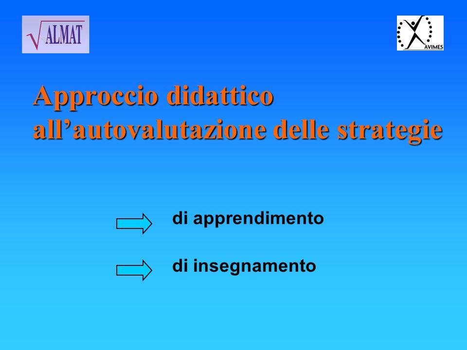 Approccio didattico allautovalutazione delle strategie di apprendimento di insegnamento