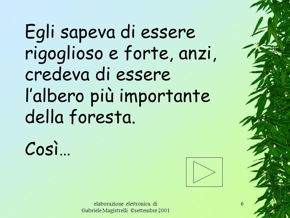 elaborazione elettronica di Gabriele Magistrelli ©settembre 2001 5 Nel mezzo di un fitto bosco, viveva un grande albero. Questa è la storia dellalbero