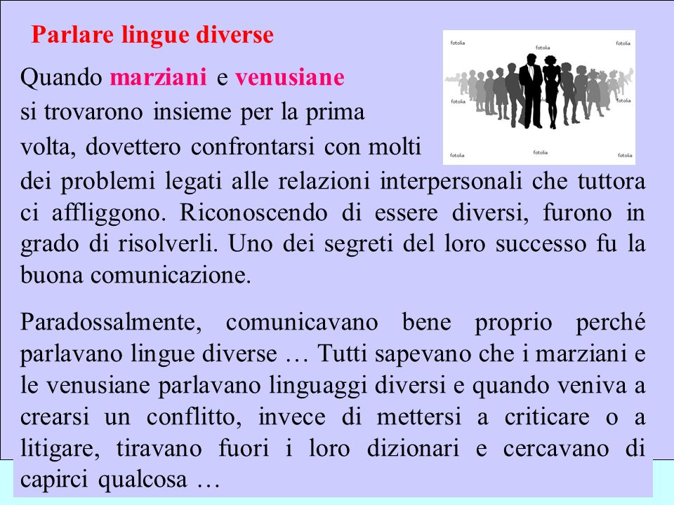 Sebastiano Pulvirenti sepulvi@libero.it 12 Parlare lingue diverse Quando marziani e venusiane si trovarono insieme per la prima volta, dovettero confr