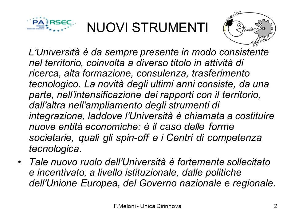 F.Meloni - Unica Dirinnova13 Fondazioni.La FONDAZIONE UNIVERSITARIA (Dpr 24 maggio 2001 n.