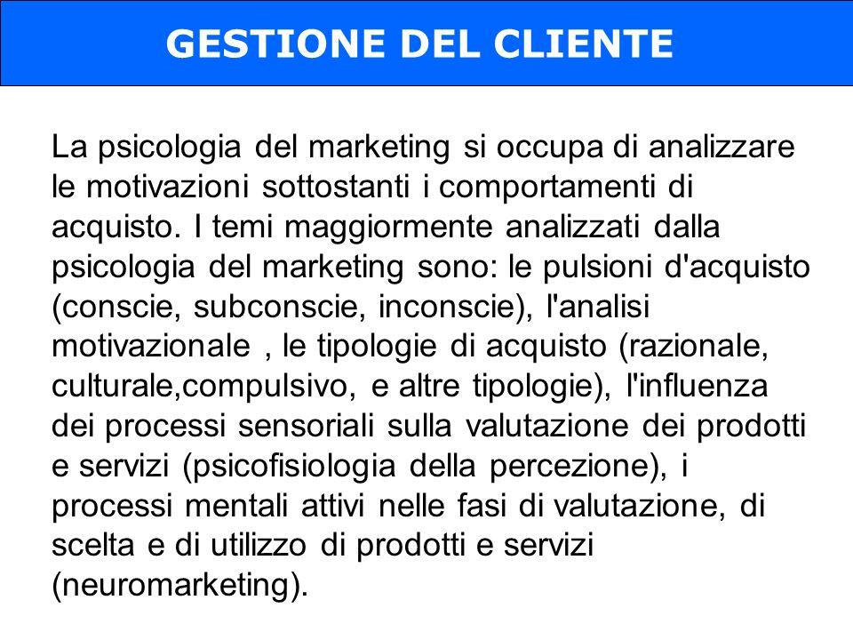 La psicologia del marketing si occupa di analizzare le motivazioni sottostanti i comportamenti di acquisto.