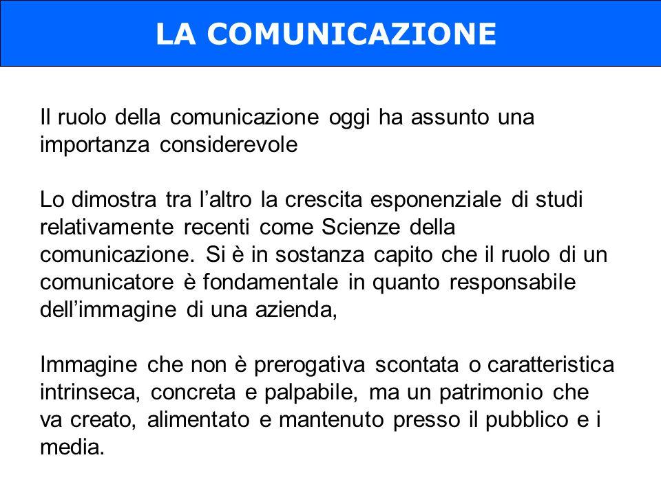 Il ruolo della comunicazione oggi ha assunto una importanza considerevole Lo dimostra tra laltro la crescita esponenziale di studi relativamente recenti come Scienze della comunicazione.
