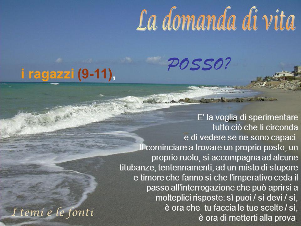 I temi e le fonti i ragazzi (9-11), POSSO.
