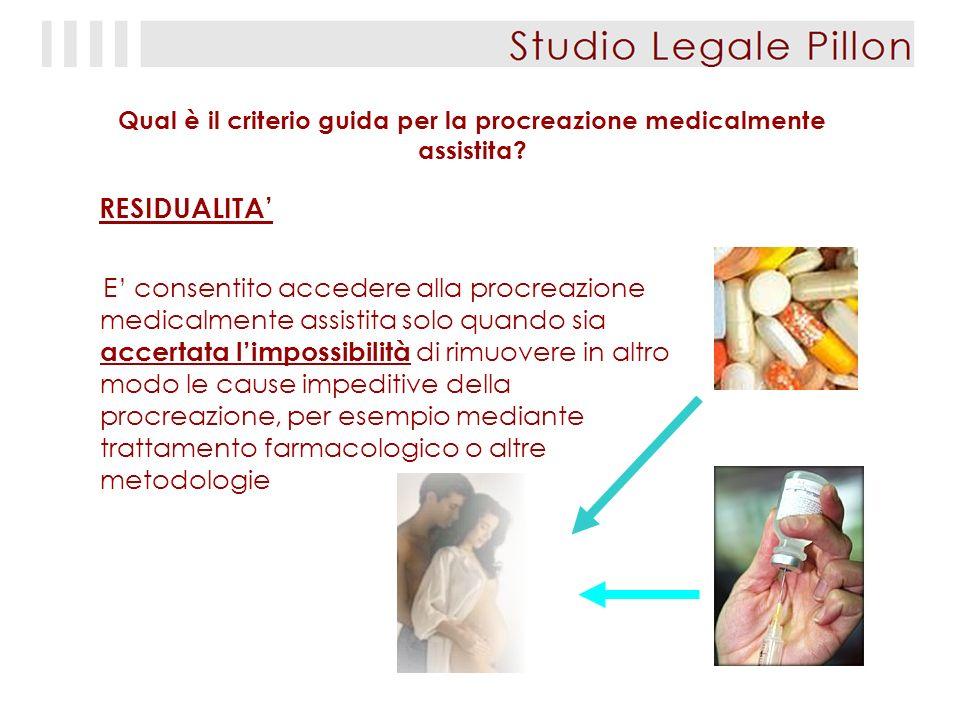 Qual è il criterio guida per la procreazione medicalmente assistita.