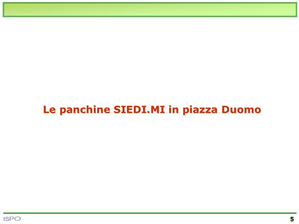 5 Le panchine SIEDI.MI in piazza Duomo
