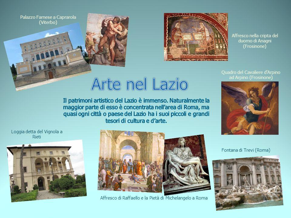 Affresco di Raffaello e la Pietà di Michelangelo a Roma Affresco nella cripta del duomo di Anagni (Frosinone) Palazzo Farnese a Caprarola (Viterbo) Qu