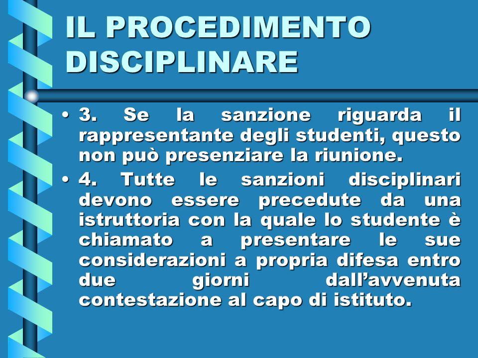 IL PROCEDIMENTO DISCIPLINARE 3.