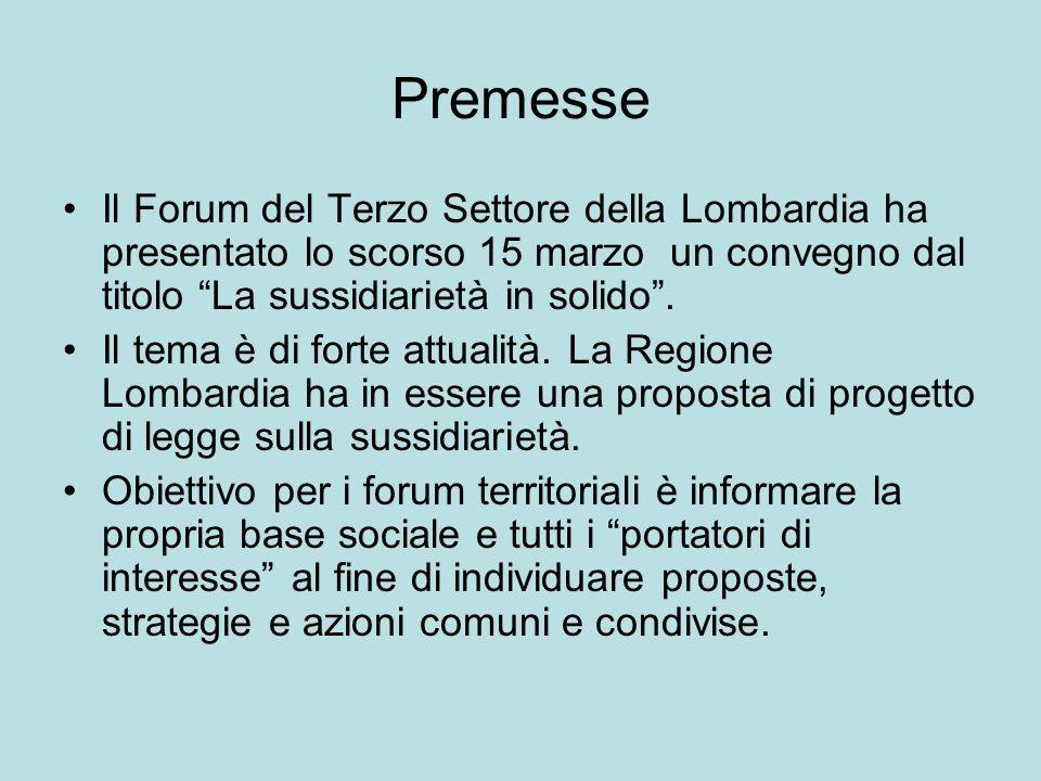 Riferimenti normativi art.2 e art. 118 della Costituzione della Repubblica Italiana; l.