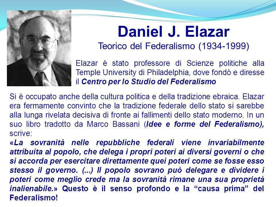 Elazar è stato professore di Scienze politiche alla Temple University di Philadelphia, dove fondò e diresse il Centro per lo Studio del Federalismo Si