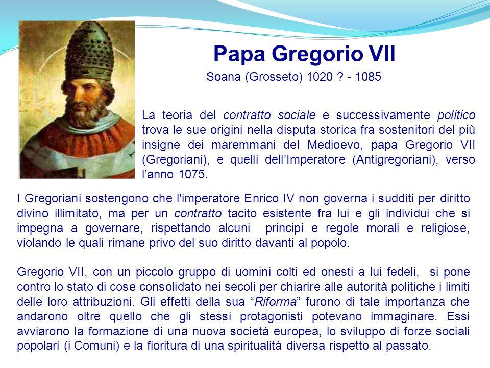 I Gregoriani sostengono che l'imperatore Enrico IV non governa i sudditi per diritto divino illimitato, ma per un contratto tacito esistente fra lui e