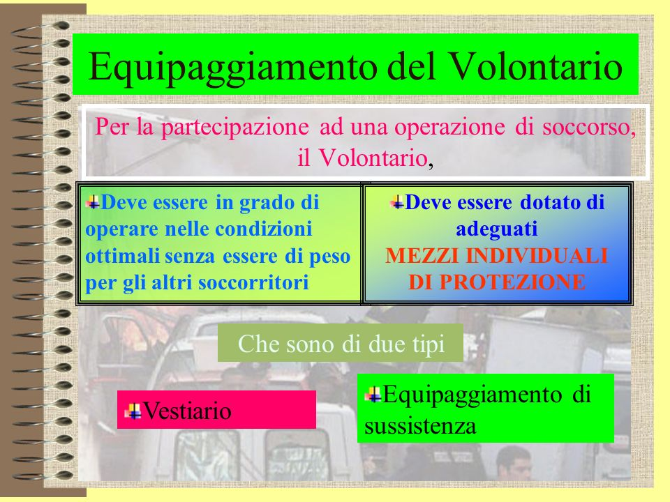 Comportamento del volontario Se è il 1° arrivato, deve Trasmettere lallarme Fornire tutte le informazioni e gli elementi utili, che rispecchino la rea