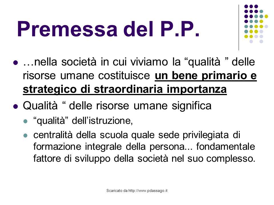 Scaricato da http://www.pdassago.it Premessa del P.P.