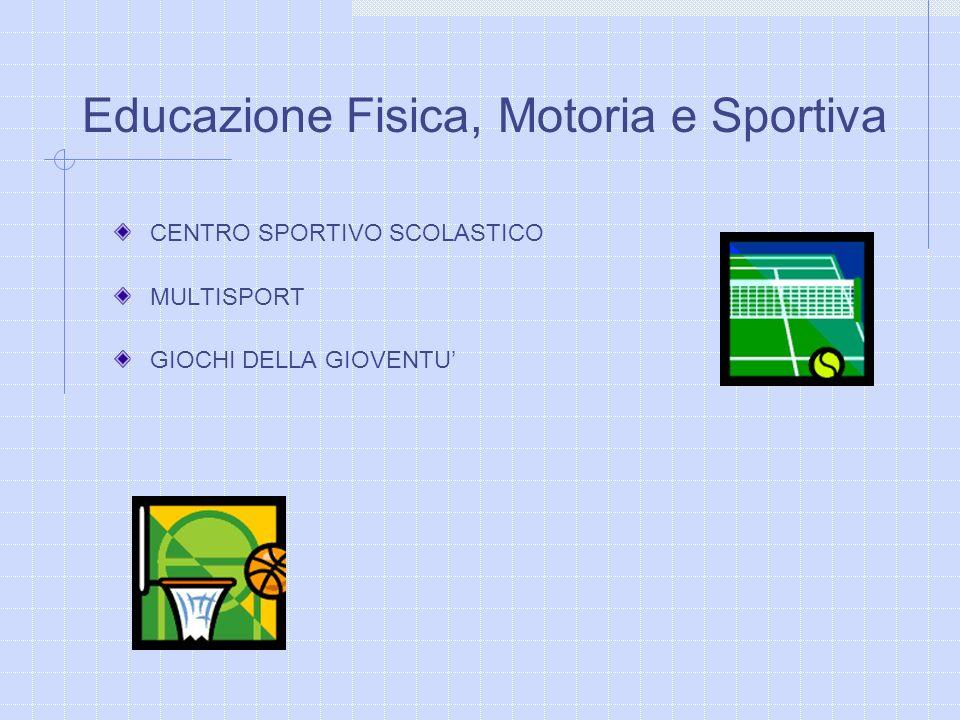 CENTRO SPORTIVO SCOLASTICO MULTISPORT GIOCHI DELLA GIOVENTU Educazione Fisica, Motoria e Sportiva