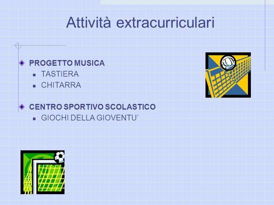 PROGETTO MUSICA TASTIERA CHITARRA CENTRO SPORTIVO SCOLASTICO GIOCHI DELLA GIOVENTU Attività extracurriculari