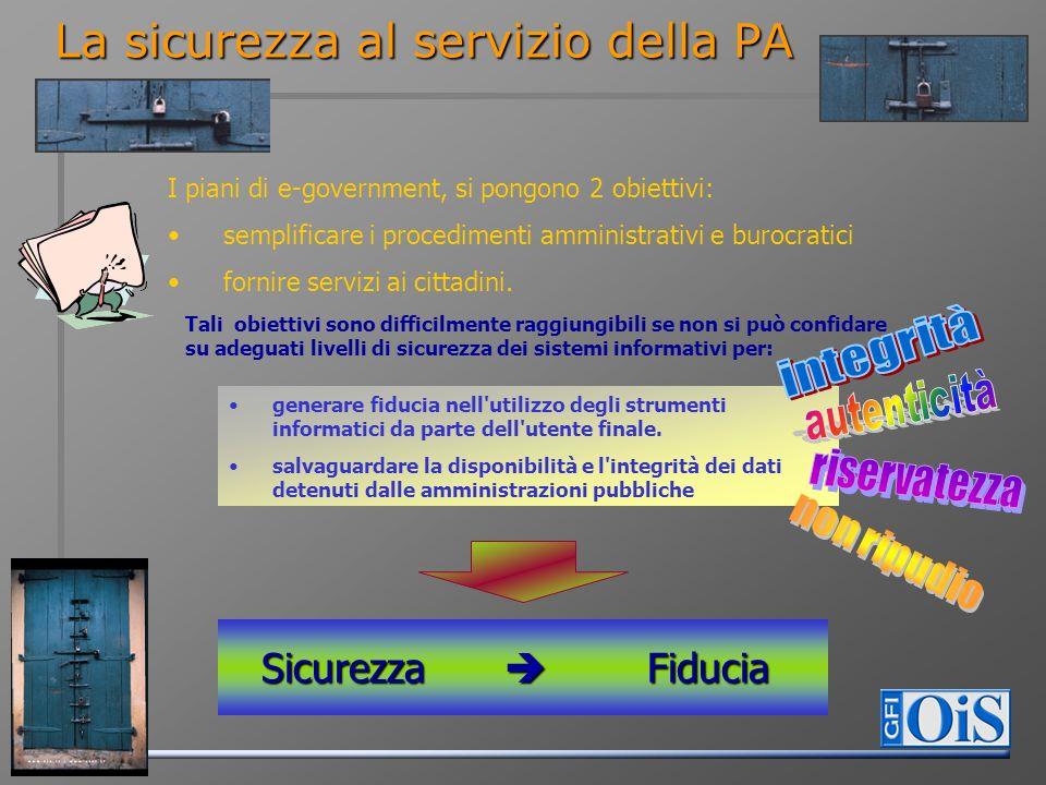 I piani di e-government, si pongono 2 obiettivi: semplificare i procedimenti amministrativi e burocratici fornire servizi ai cittadini. Tali obiettivi