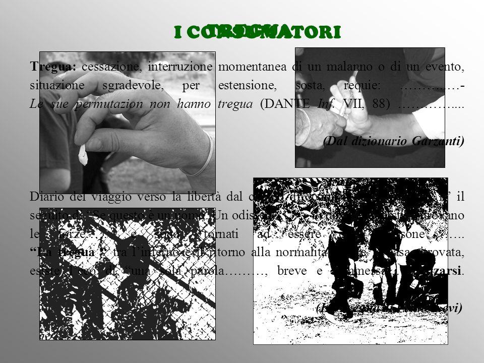 I CONSUMATORI Tregua: cessazione, interruzione momentanea di un malanno o di un evento, situazione sgradevole, per estensione, sosta, requie: ………..…-