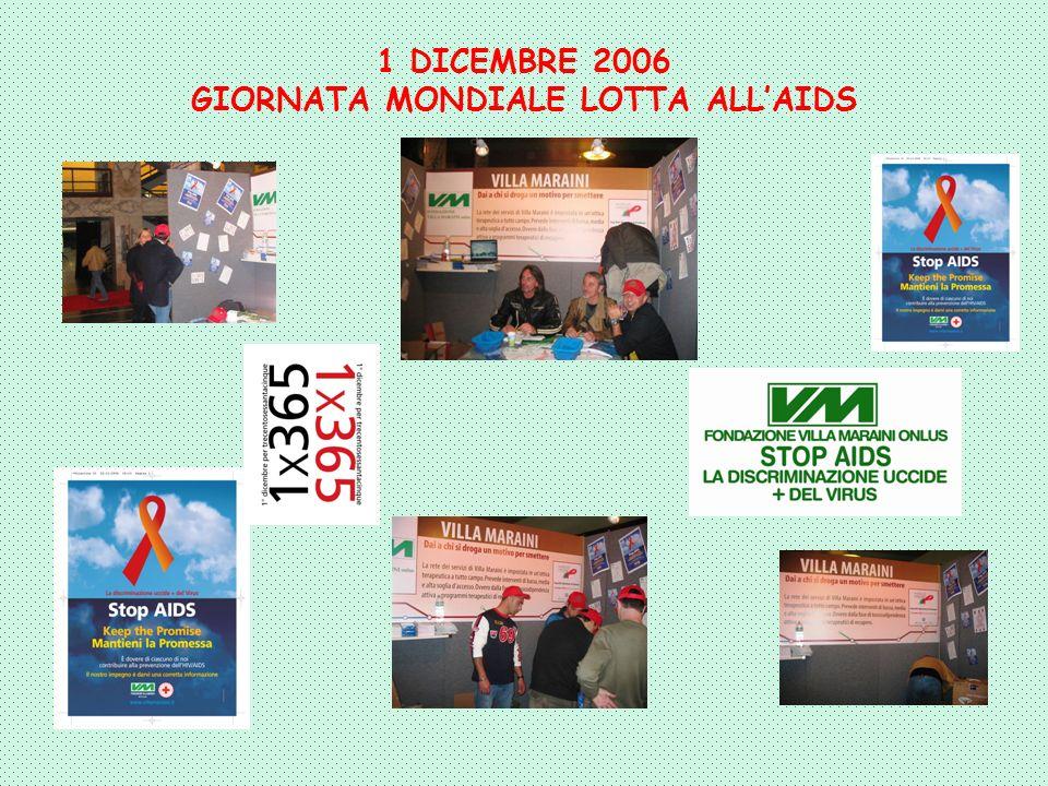 1 DICEMBRE 2006 GIORNATA MONDIALE LOTTA ALLAIDS