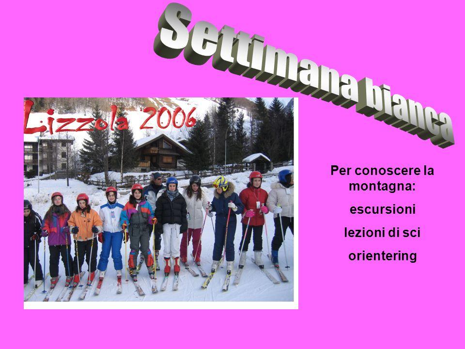 Per conoscere la montagna: escursioni lezioni di sci orientering