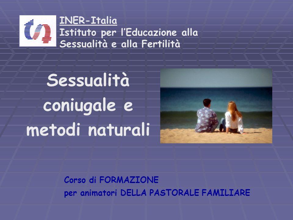 INER-Italia Istituto per lEducazione alla Sessualità e alla Fertilità Sessualità coniugale e metodi naturali Corso di FORMAZIONE per animatori DELLA P