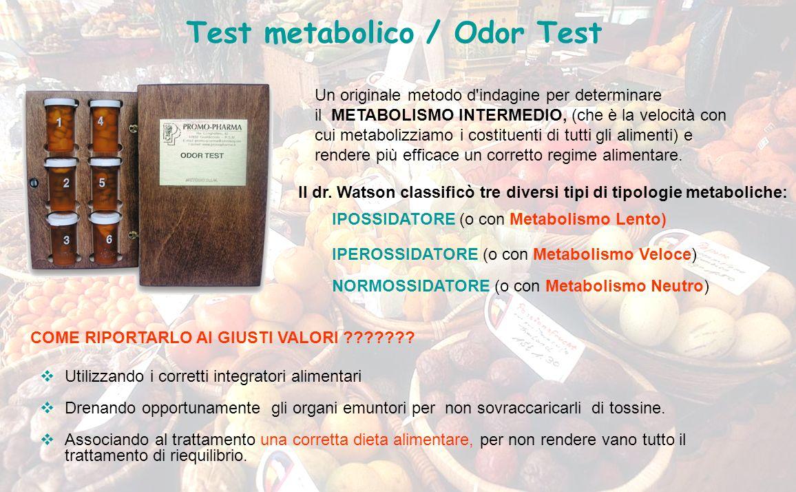 Un originale metodo d'indagine per determinare il METABOLISMO INTERMEDIO, (che è la velocità con cui metabolizziamo i costituenti di tutti gli aliment