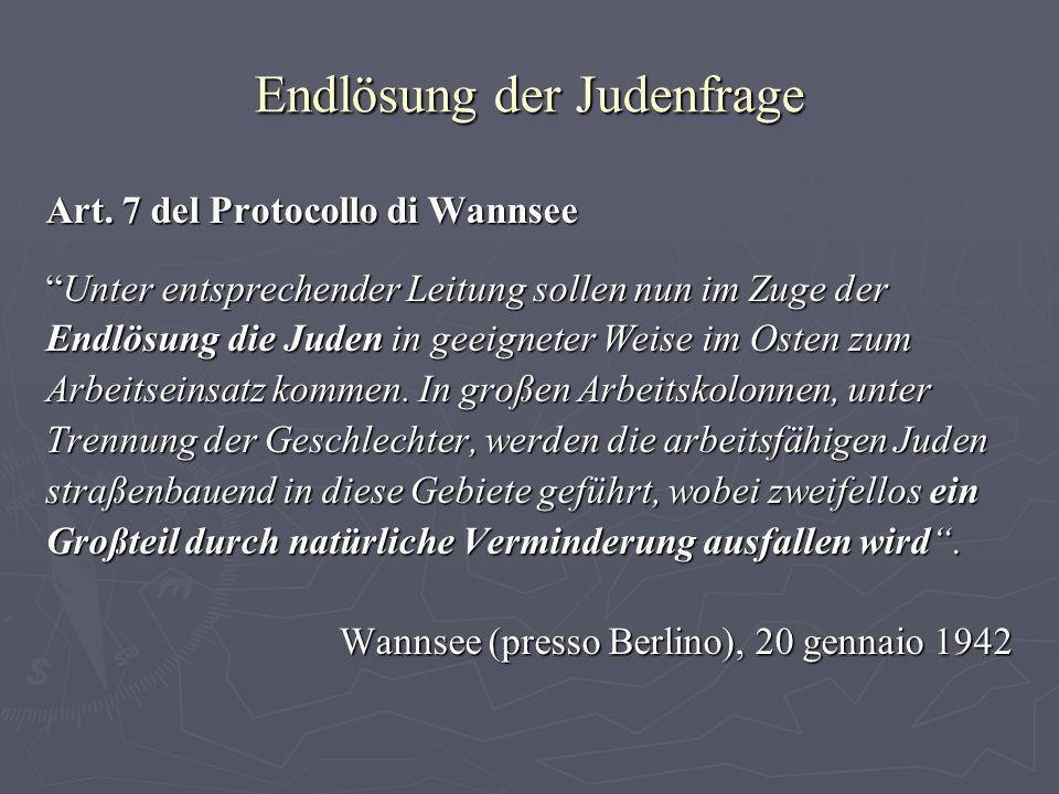 Endlösung der Judenfrage Art.
