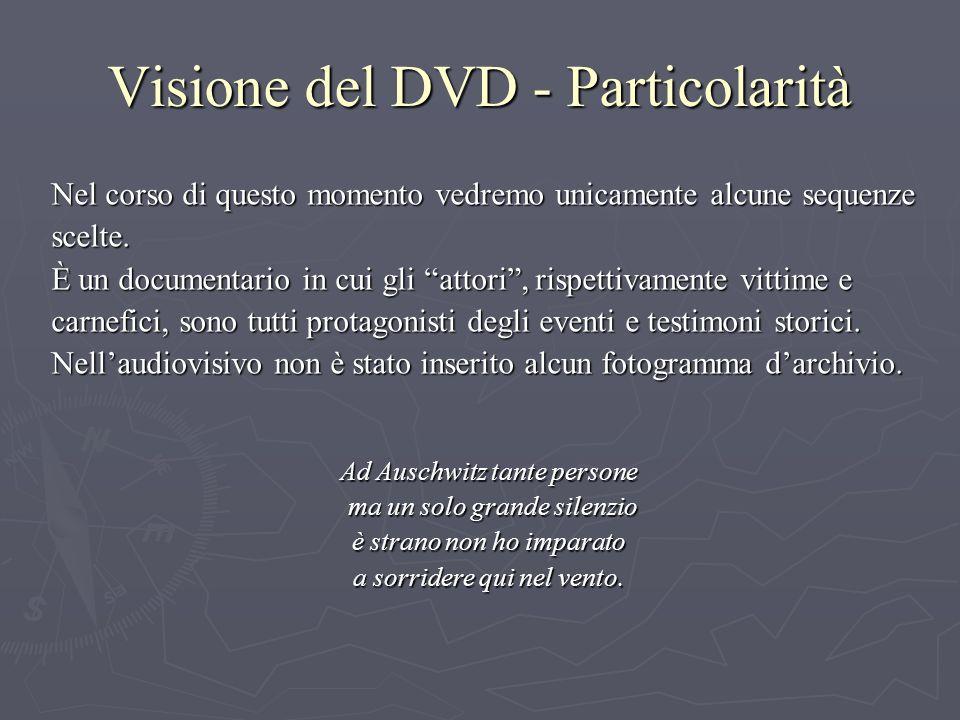 Visione del DVD - Particolarità Nel corso di questo momento vedremo unicamente alcune sequenze scelte.