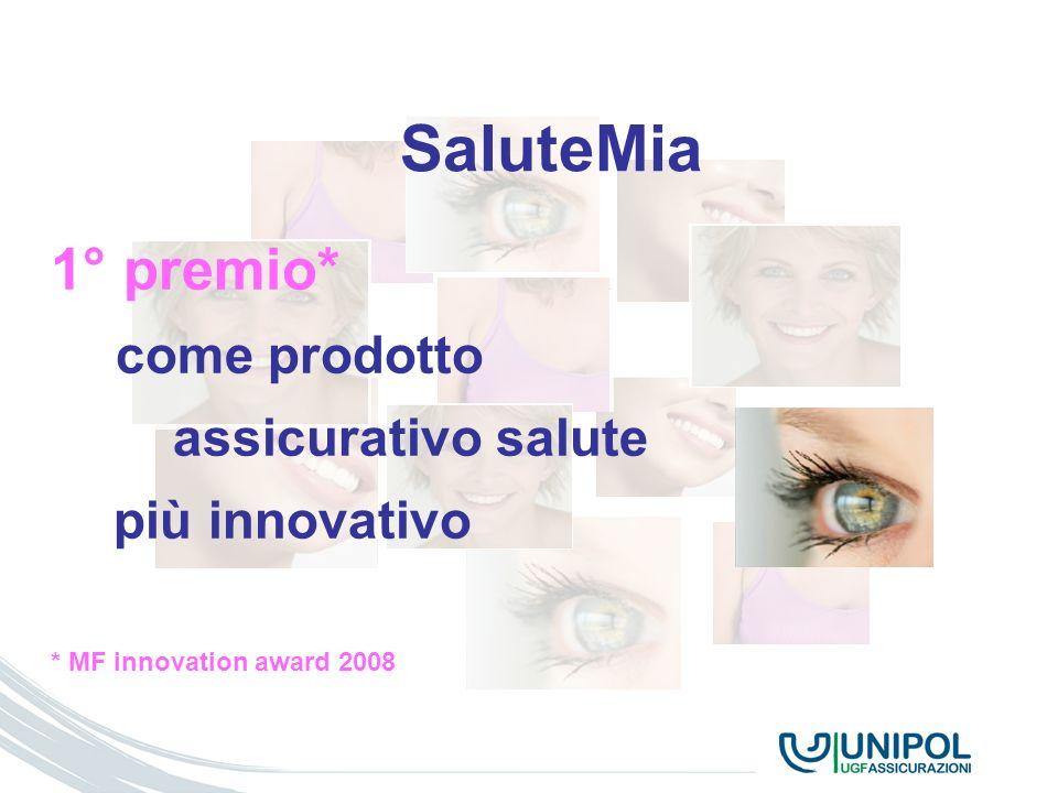 TITOLO SEZIONE SaluteMia 1° premio* come prodotto assicurativo salute più innovativo * MF innovation award 2008
