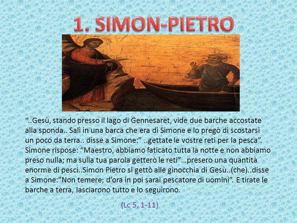 ..Gesù, stando presso il lago di Gennesaret, vide due barche accostate alla sponda.. Salì in una barca che era di Simone e lo pregò di scostarsi un po