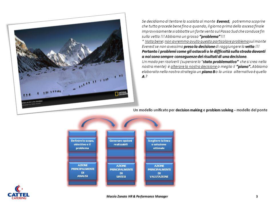 Marzio Zanato HR & Performance Manager 3 Everest Se decidiamo di tentare la scalata al monte Everest, potremmo scoprire che tutto procede bene fino a