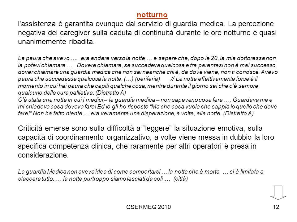 CSERMEG 201012 notturno lassistenza è garantita ovunque dal servizio di guardia medica.