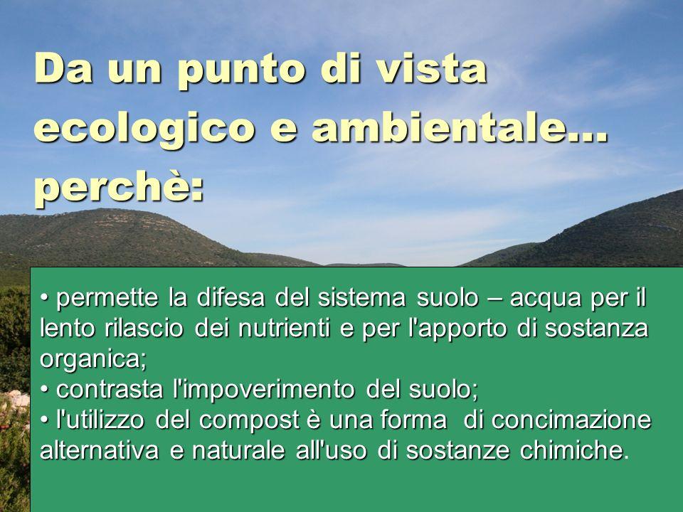 Da un punto di vista ecologico e ambientale...