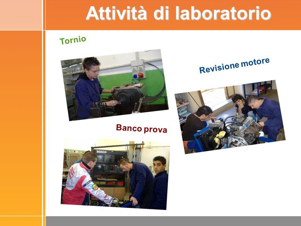 Tornio Banco prova Revisione motore Attività di laboratorio
