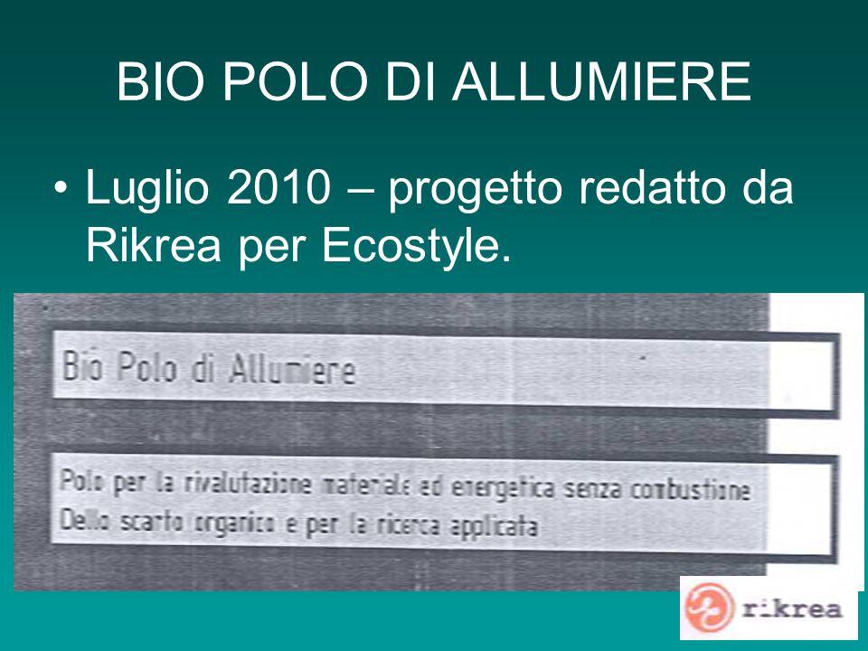 BIO POLO DI ALLUMIERE Luglio 2010 – progetto redatto da Rikrea per Ecostyle.