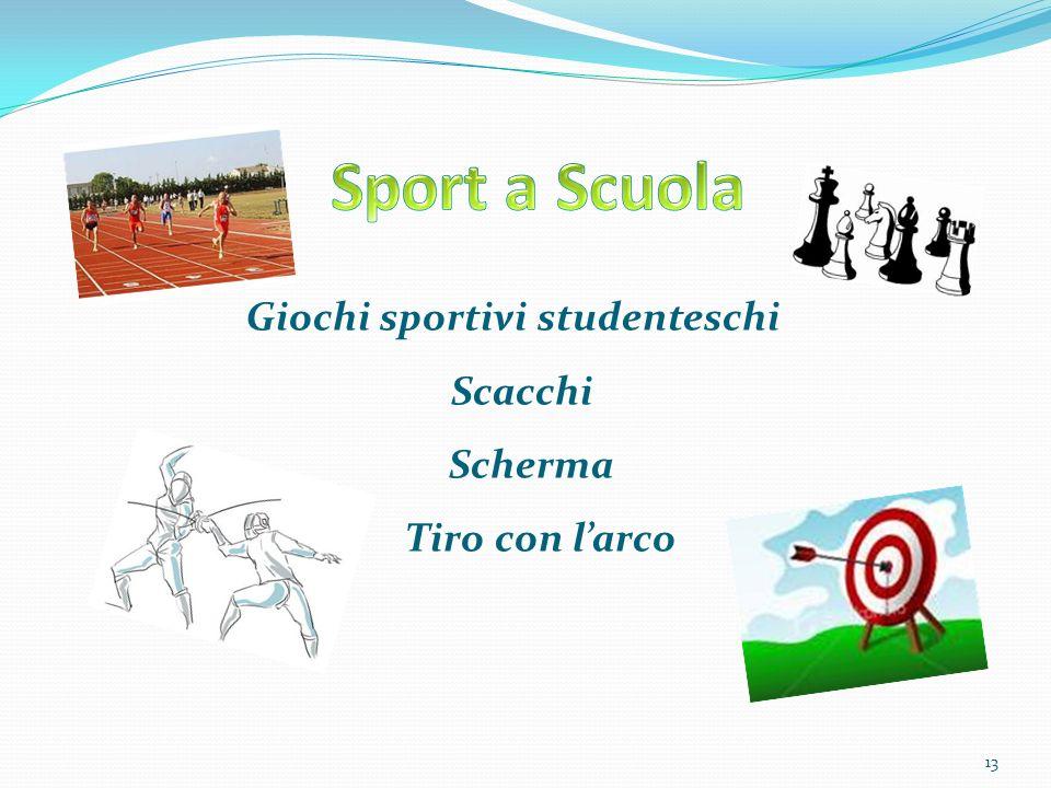 Giochi sportivi studenteschi Scacchi Scherma Tiro con larco 13